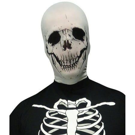 Scary Evil Skeleton Skull Stocking Fabric Mask Costume Accessory (Scary Hockey Mask)