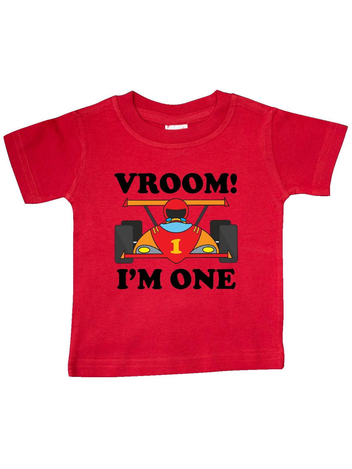 1st Birthday Racing Car Boys Baby T-Shirt