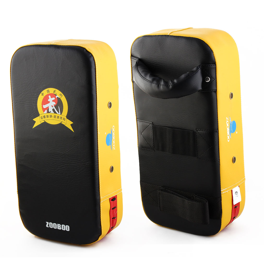 Zooboo Authorized Thai Kick Boxing Training Focus Pads Strike Shield Yellow Pair
