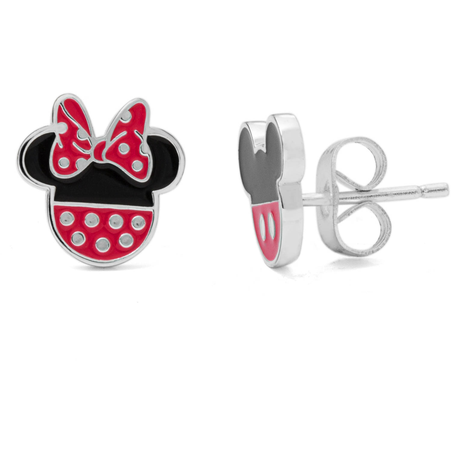 disney sterling silver mickey and minnie mouse stud