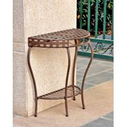 Iron Outdoor Half Moon Patio Table
