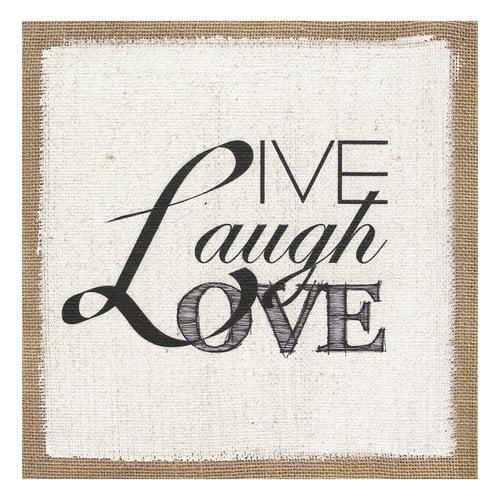 Stratton Home Decor Live Laugh Love Textual Art Walmartcom