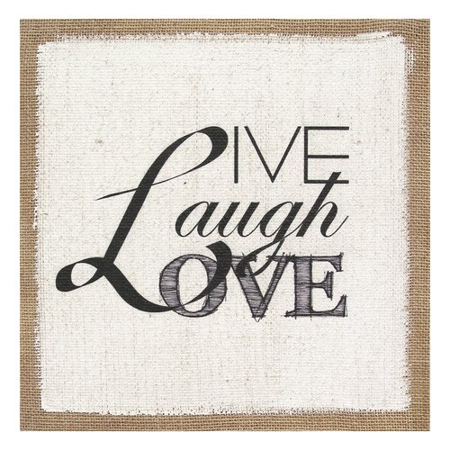 Stratton Home Decor ''Live Laugh Love'' Textual Art