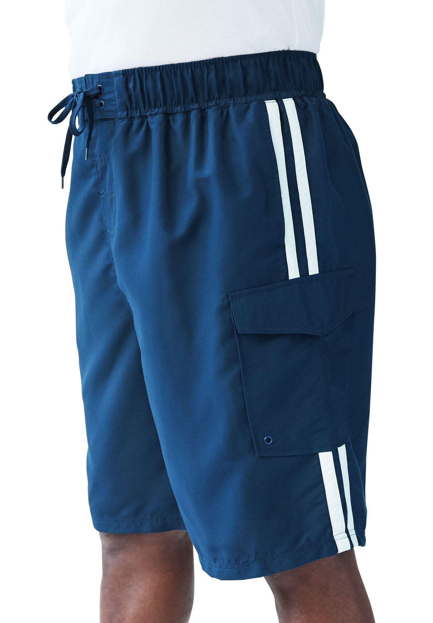 Kingsize Men's Big & Tall Double Stripe Board Shorts