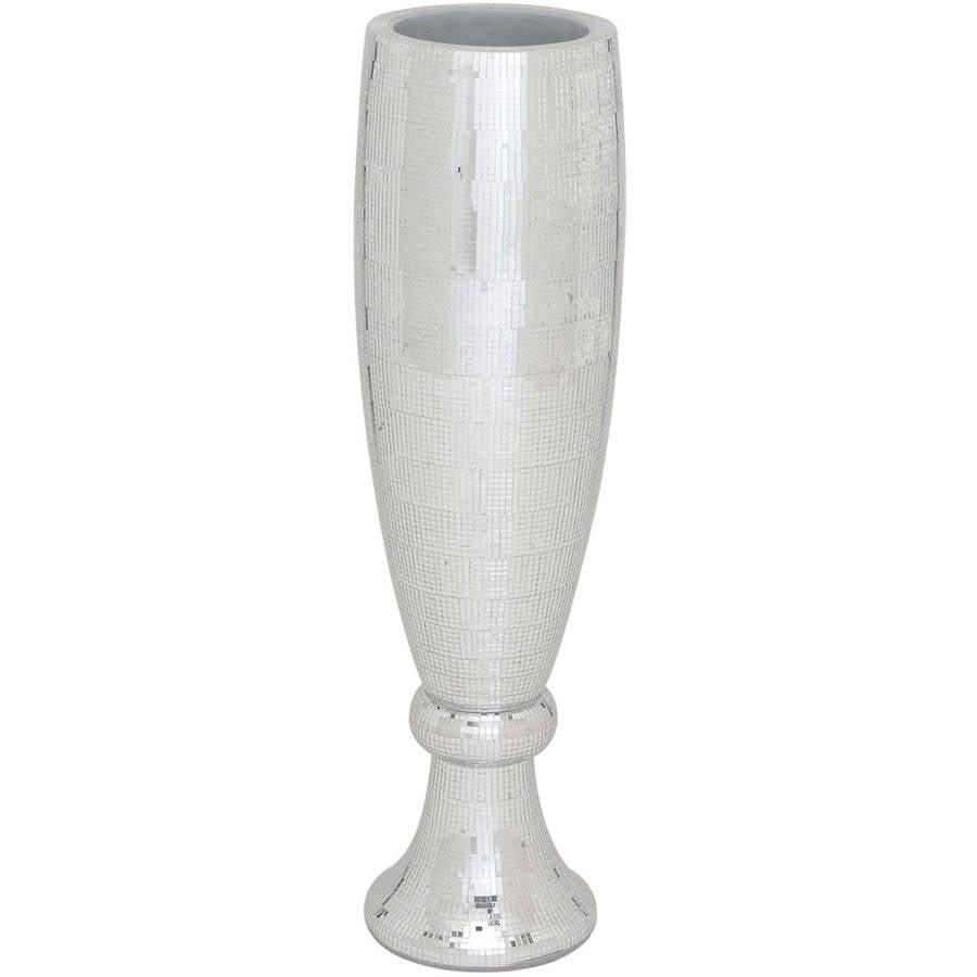 Poly Stone Mirror Mosaic Vase (Small)