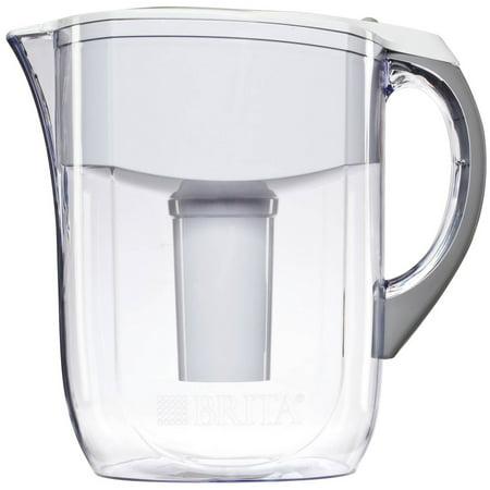 Brita Grand Water Filter Pitcher  White  10 Cup  Bpa Free