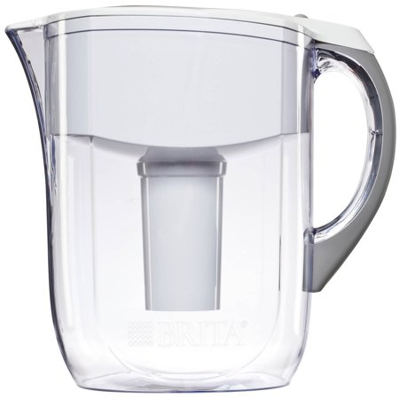 Brita Grand Water Filter Pitcher, White, 10 Cup, BPA Free