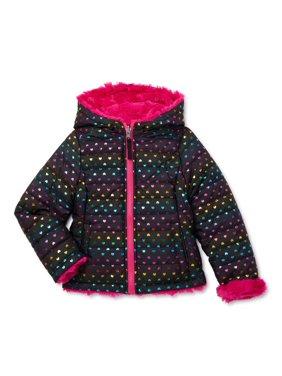 Bhip Girls Reversible Hooded Puffer Coat, Sizes 4-16