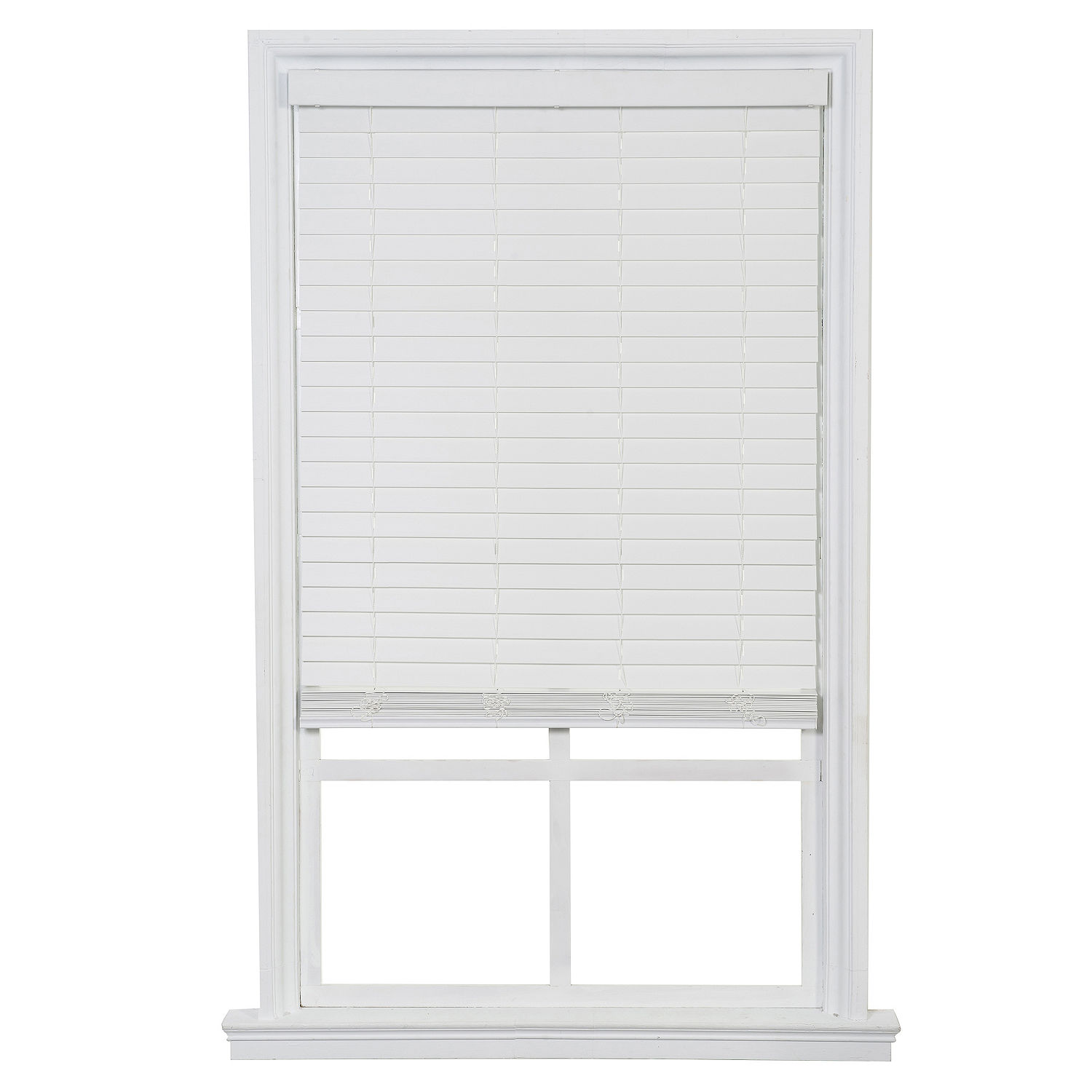 One Touch Faux Wood Blinds White 34x64 Walmart Com