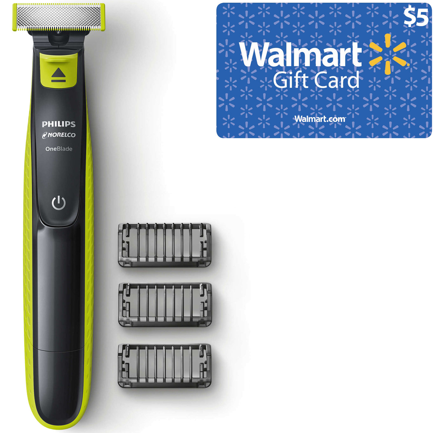 Philips Norelco OneBlade Electric Shaver and $5 Walmart Gift Card Bundle