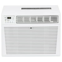 GE 12,000 BTU 115-Volt SMART Room Air Conditioner with Remote for Rooms up to 550 sq.ft., AEG12AZ, White