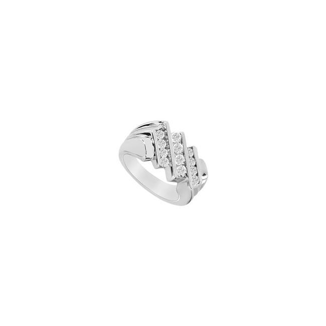 14K White Gold 1.00 CT Mens Diamond Ring - Size 12 - image 1 of 1