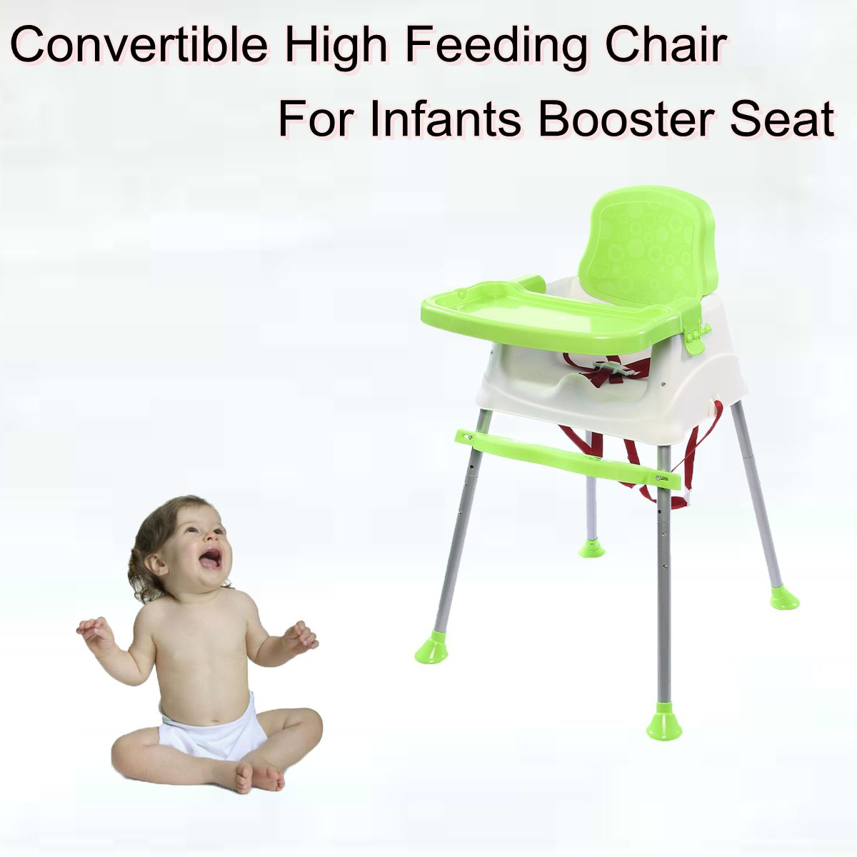 Baby Chair For Eating Baby Convertible High Feeding Chair For Infants Booster Seat, Green by