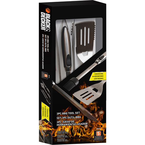Black & Decker 3-Piece BBQ Accessory Kit