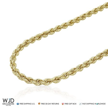 "10K Yellow Gold Hollow 5mm Rope Chain 20"" 22"" 24"" 26"" 28"" 30"" 32"""