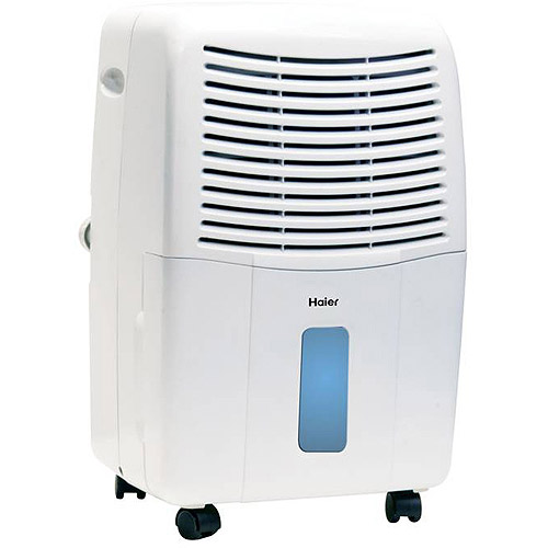 Haier 45-Pint Dehumidifier for Basements w/Drain, White,  DE45EM-L