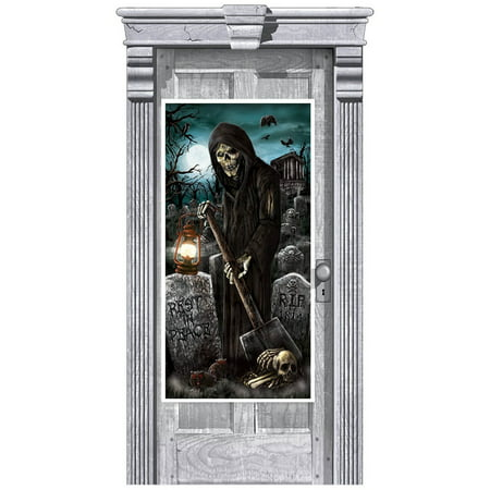 CEMETERY DOOR DECORATION - Halloween Door Covers