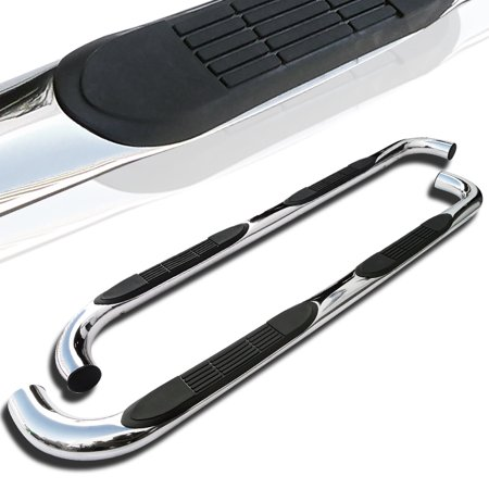 Spec-D Tuning For 2006-2010 Hummer H3 Stainless Nerf Bar Running Board Side Step Bar Ss Pair 2006 2007 2008 2009 2010 (Left+Right) ()