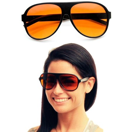 2d472876b3 Blue Blockers Pilot Sunglasses Amber Lens Driving Glasses Eyewear Shades  Fashion - Walmart.com