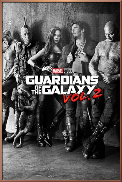 "Guardians Of The Galaxy Vol. 2 Movie Poster   Print (B&W Teaser) (Size: 24"" x 36"") by"