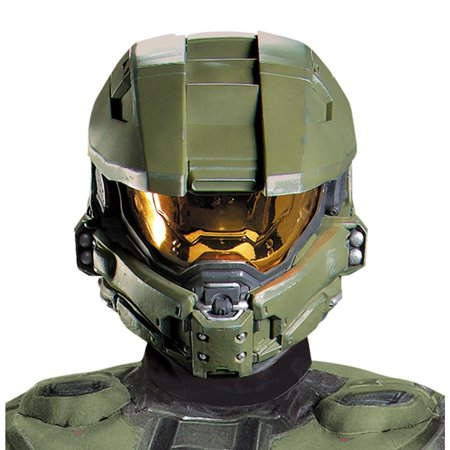 Halo 3 Master Chief 2 piece Vacuform Mask Adult - One Size](Master Cheif Helmet)