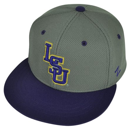 NCAA Louisiana State Tigers LSU Zephyr Flat Bill Hat Cap Fitted Youth Two Tone - Lsu Store