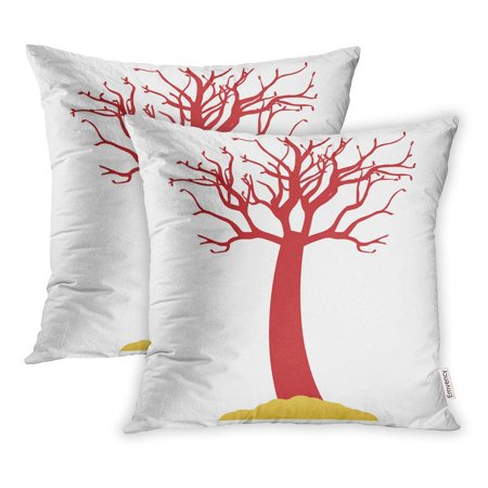 ECCOT Dead Tree Halloween Color Which Can Be Easily Edit Modified Pillowcase Pillow Cover 20x20 inch Set of 2 - Halloween Whish