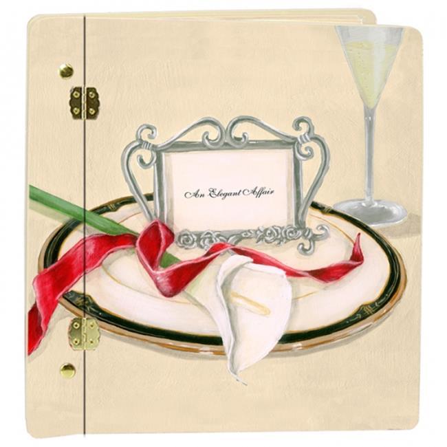 Lexington Studios 12017LC Wedding Table 4 Two Lilly Book Large Album Cream by Lexington Studios