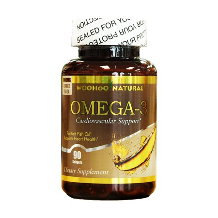 WooHoo Natural Purified Fish Oil, Omega-3 1000mg 90