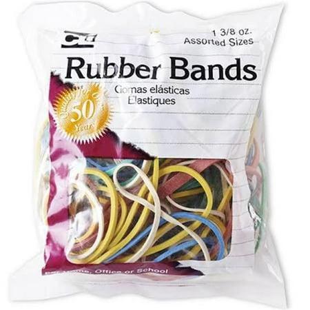 Charles Leonard Rubber Bands, 1 3/8 Ounce Bags, Assorted Sizes/Colors (56385) Charles Leonard Tape Dispenser