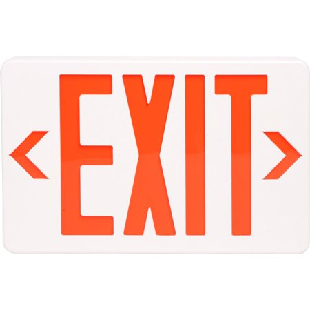 Tatco Signs - Tatco, TCO07230, LED Exit Sign with Battery Back-Up, 1 Each, Off White