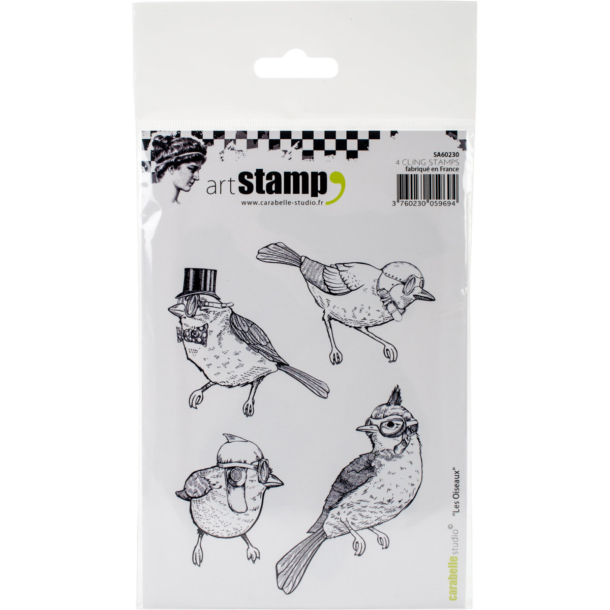 Carabelle Studio Cling Stamp A6-Birds