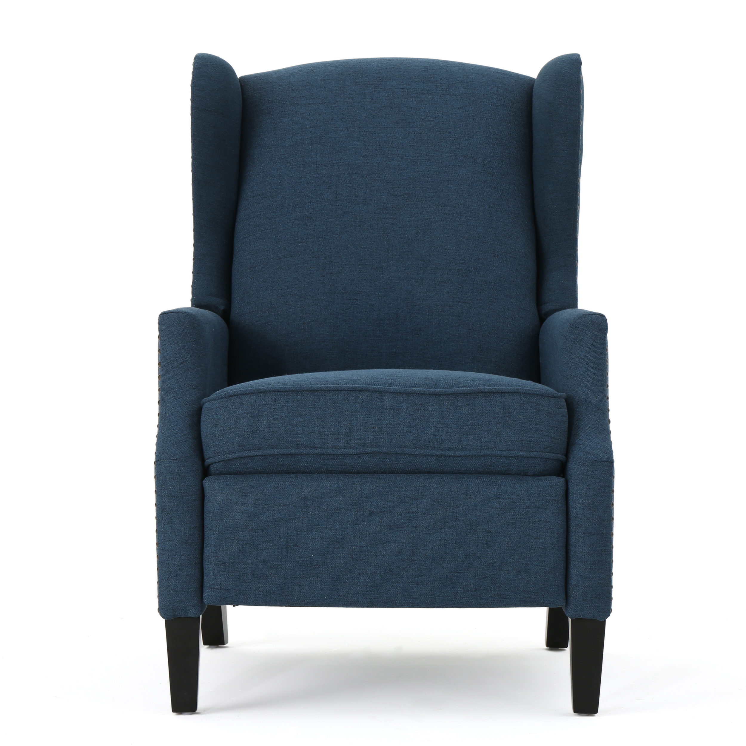Weyland Wingback Fabric Recliner, Navy Blue