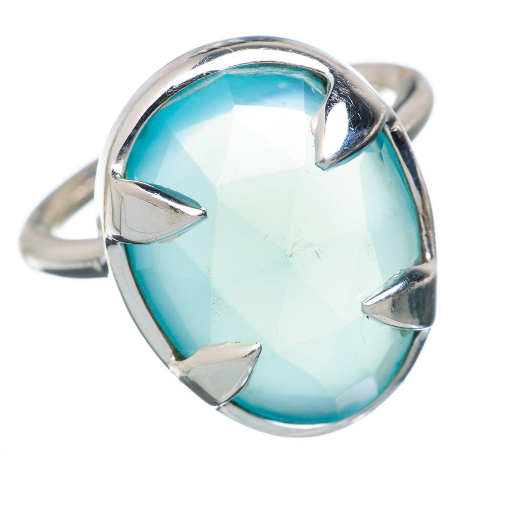 Ana Silver Co Aqua Chalcedony Ring Size 5.25 (925 Sterling Silver) Handmade Jewelry RING879562 by Ana Silver Co.