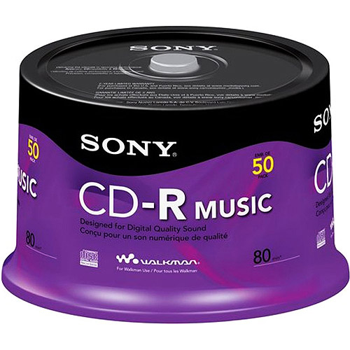 Disc CD-R 80 min branded Music 50/pk Spindle