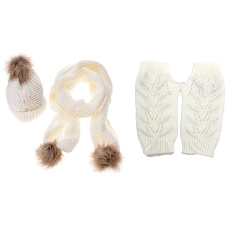 a1d9c9f5746 Women s Winter Brand Knitted Hat Glove And Scarf Set