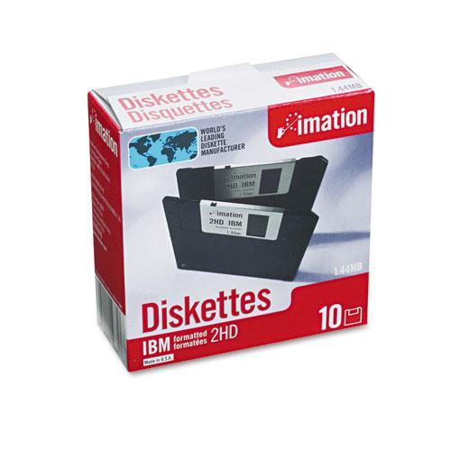 3M DS,HD 3.5 Diskettes IBM Formatted Pack of 10