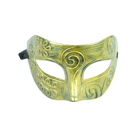 Women Retro Vintage Roman Gladiator Cosplay Costume Masquerade Mask Gold