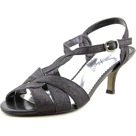 Easy Street Glamorous Women Open Toe Synthetic Black Sandals
