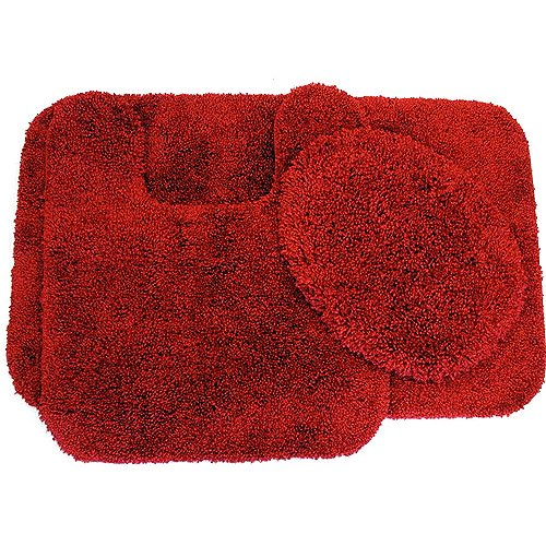 canopy thick and plush soft touch 3 piece bath rug set walmartcom - 3 Piece Bathroom Rug Sets