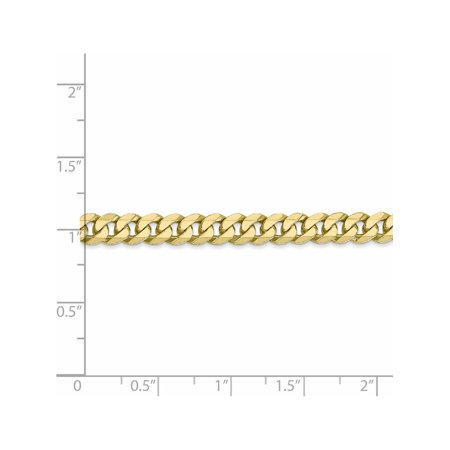 Leslies 10k 5.75mm Flat Beveled Curb Chain - image 3 of 4
