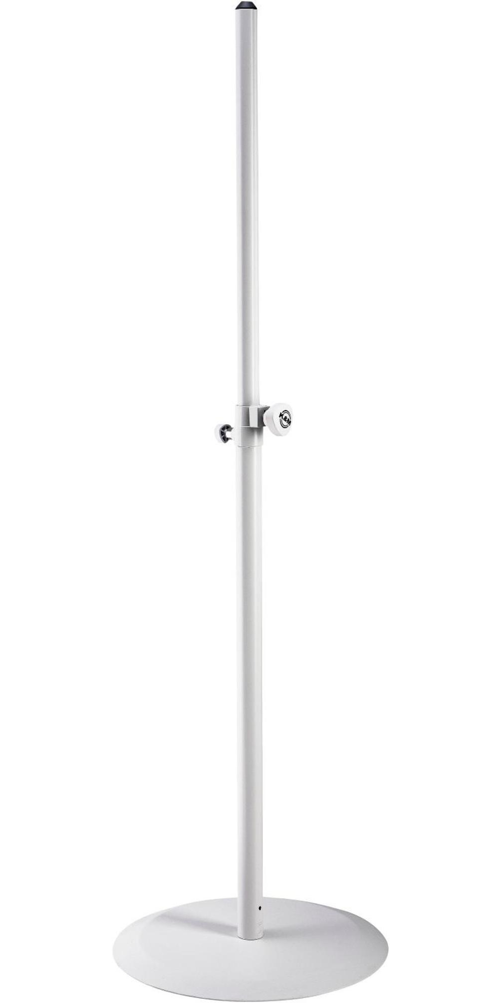 K&M 26735.000.76 White Round Base Speaker Stand by K&M