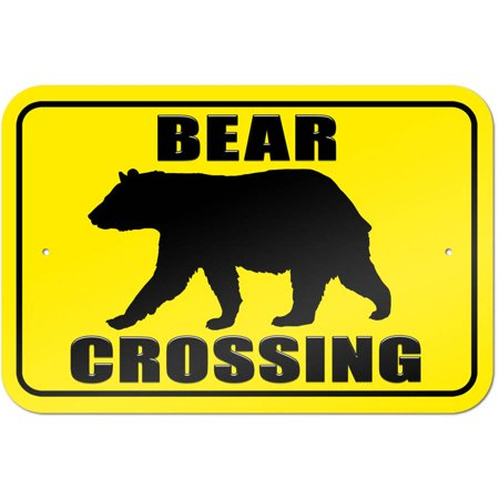 Bear Crossing Sign