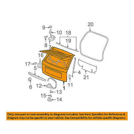 Tailgate Skin - Jeep CHRYSLER OEM Grand Cherokee-Liftgate Tailgate Hatch Panel Skin 55399066AC