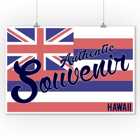 Visited Hawaii - Authentic Souvenir - Lantern Press Artwork (9x12 Art Print, Wall Decor Travel Poster) - Hawaiian Souvenir Ideas