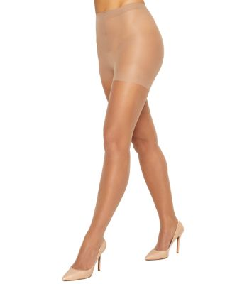 2 Hanes Silk Reflections Non-Control Top Sheer Toe Pantyhose 715
