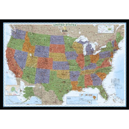 National Geographic Maps United States Decorator Wall Map - Walmart.com