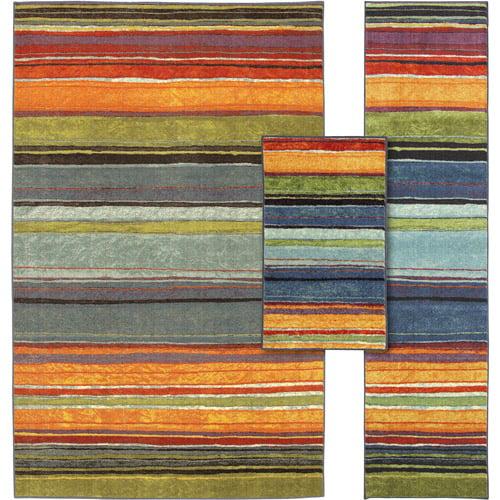 Rainbow 3-piece Nylon Rug Set