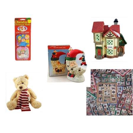 Christmas Fun Gift Bundle [5 Piece] - Xmas Ornamentbooks: 3 Kings, Angel Get Her Wings -  Village