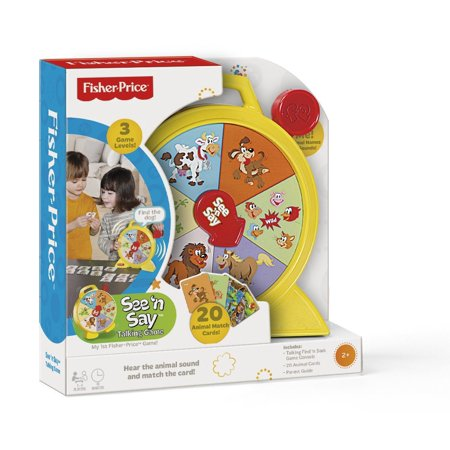 Fisher-Price See 'n Say Talking Game, 3 Game Levels of varying difficulty that grow with your child By TCG Ship from US